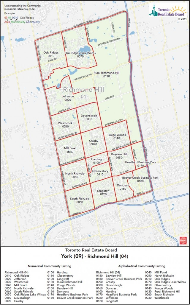 Richmond Hill District_Map
